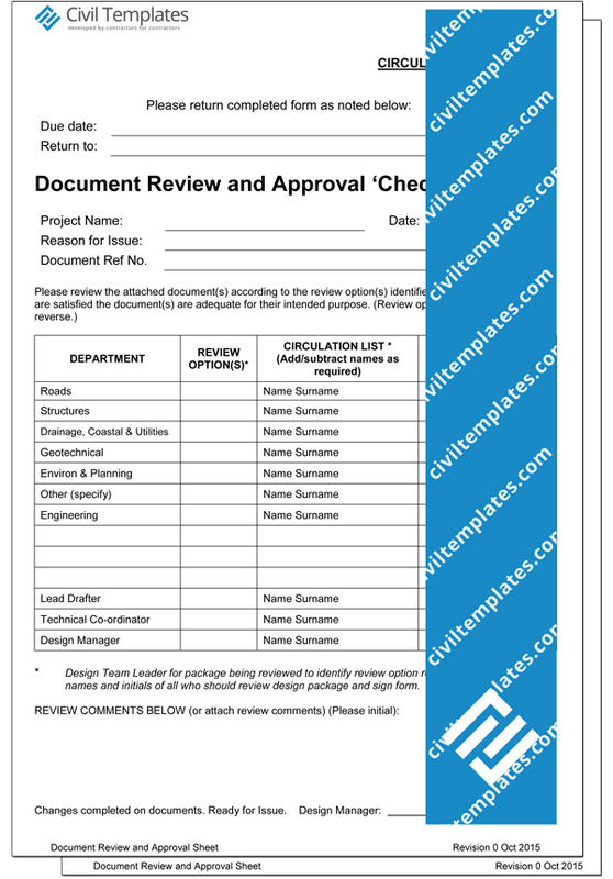 Project Management Document Templates Civil Engineering Templates