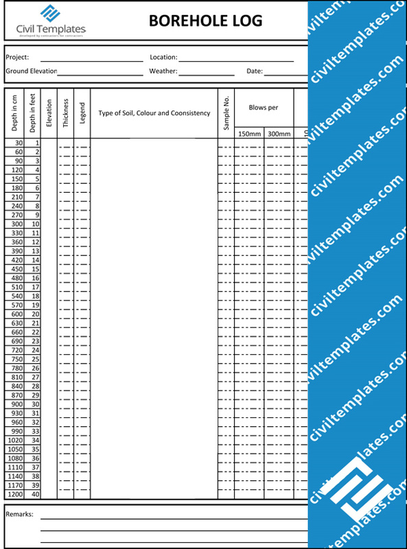 Geotechnical Investigation Civil Engineering Templates