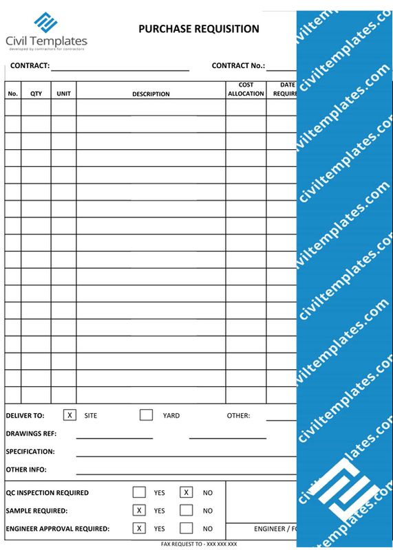 Project Management Document Templates Civil Engineering
